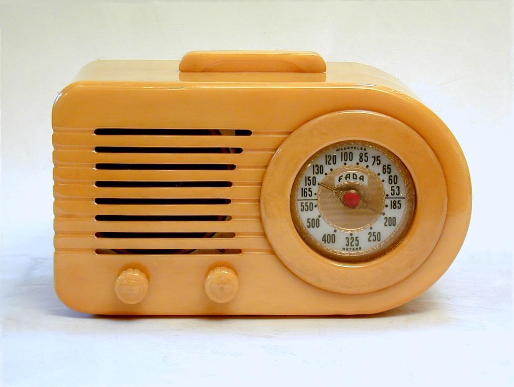 Original FADA Bullet 1000 Butterscotch Catalin Radio Handle
