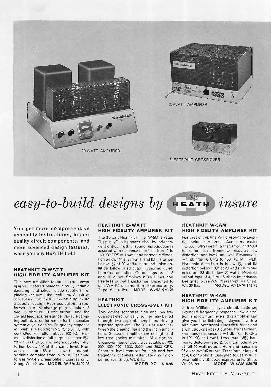Heathkit Model W-6M High-Fidelity Amplifier (1957)