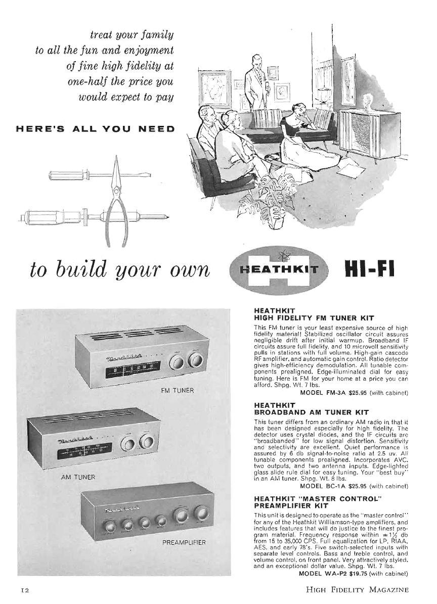Heathkit Model Fm 3 Radio Tuner 1957 Automatic Volume Control Circuit