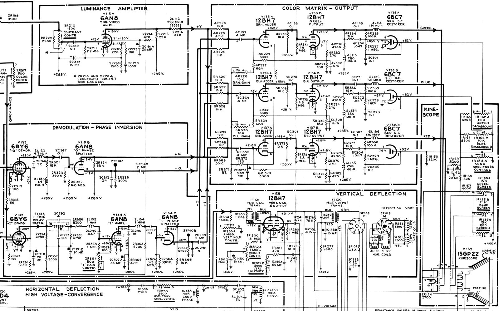 rca ct 100 color television design lg tv schematic diagrams