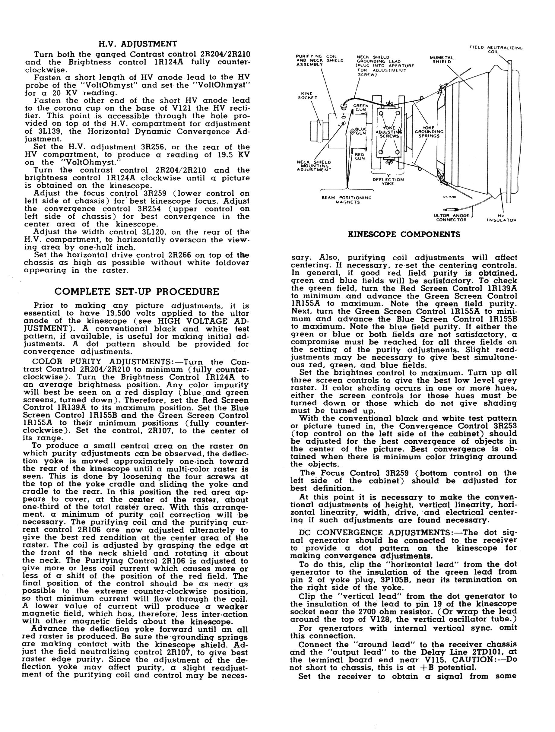 Rca Ct 100 Color Television Design Click Explanation Of Mechanical Tv Block Diagram I Divided These Long Skinny Pages Into Sections That Print On 85 X 11 Inch Sheets Dont Try To Them From Your Web Browser