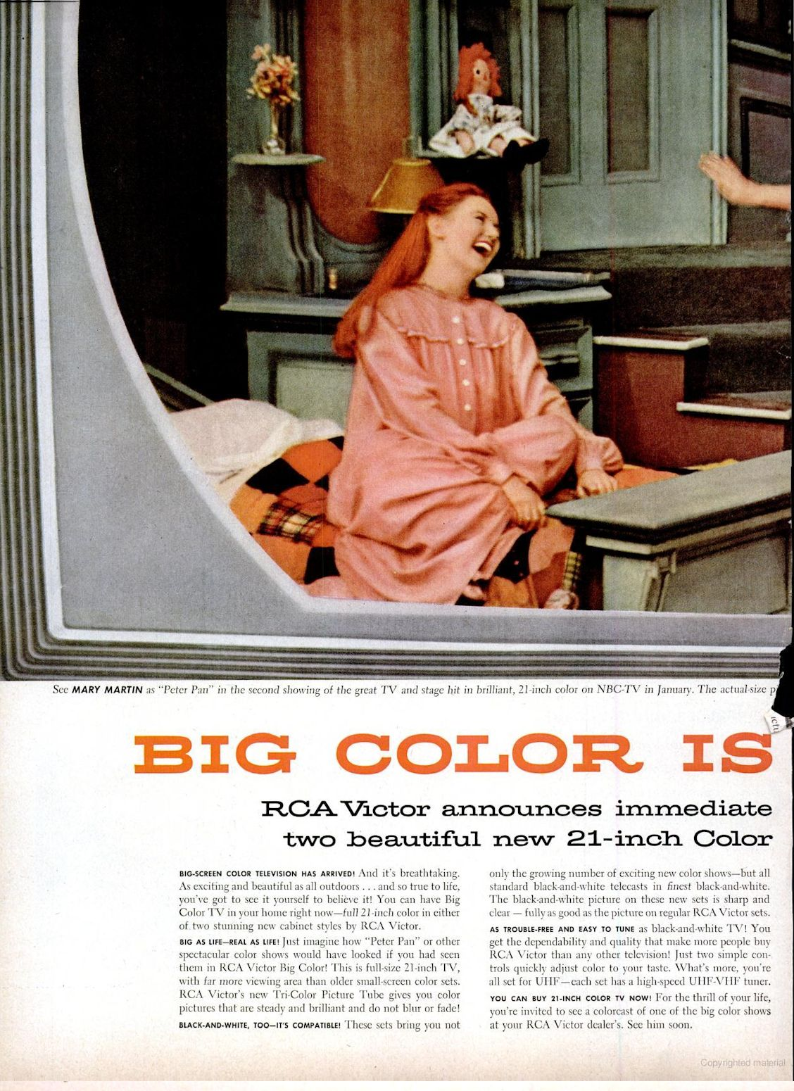 rca model ctc 4 director 21 color television 1955
