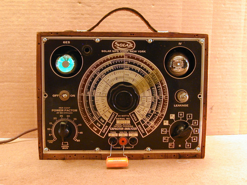 Old Ge Test Instruments : Sprague model tel ohmike capacitor resistor tester