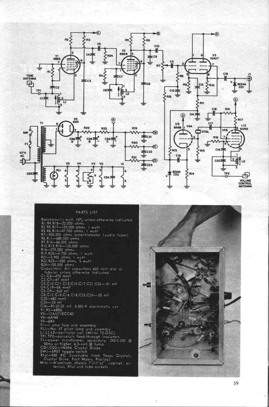 Electronics Illustrated Magazine January 1961 Simple Theremin This Issue Of Includes A Construction Article For Tube Powered Theremins Were Invented In The