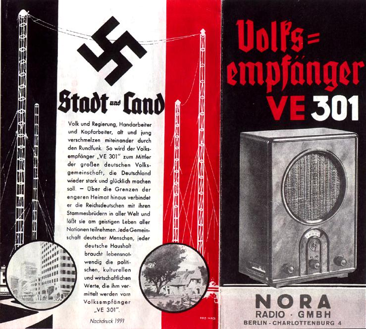 German Volksempfaenger Ve 301 Dyn Radio 1938