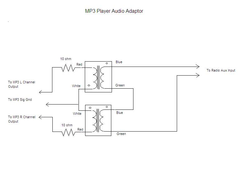 iPodAdaptorSchematic  Pin Yaesu Mic Wiring Diagram on