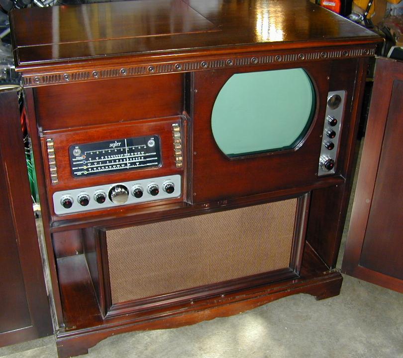 Scott 800 B6 Radio Tv Phono Console 1948