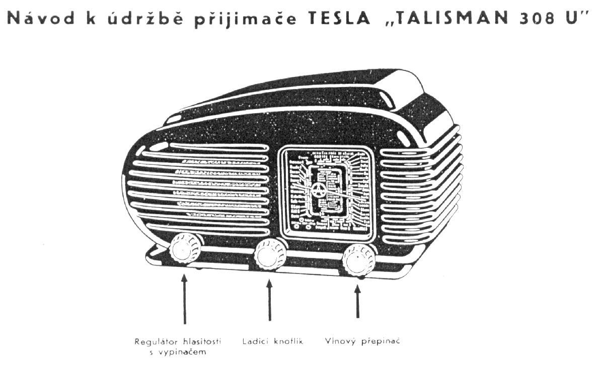 "Tesla Model 308U ""Talisman"" Radio (1956)"